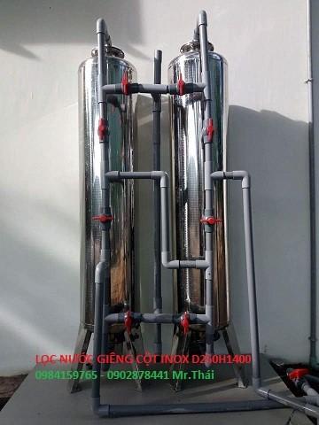 Bộ lọc nước giếng khoan cho sinh hoạt gia đình với cot65inox chuyên lọc phèn sắt, kim loại nặng màu, mùi tanh hôi, tạp chất trong nước.