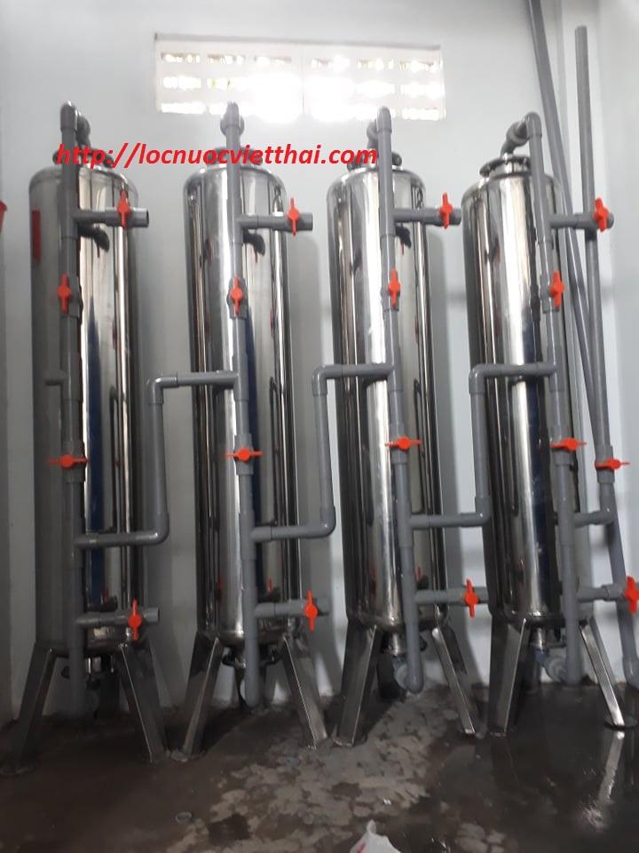 Lọc nước phèn giếng khoan cho sinh hoạt tại gò công tiền giang