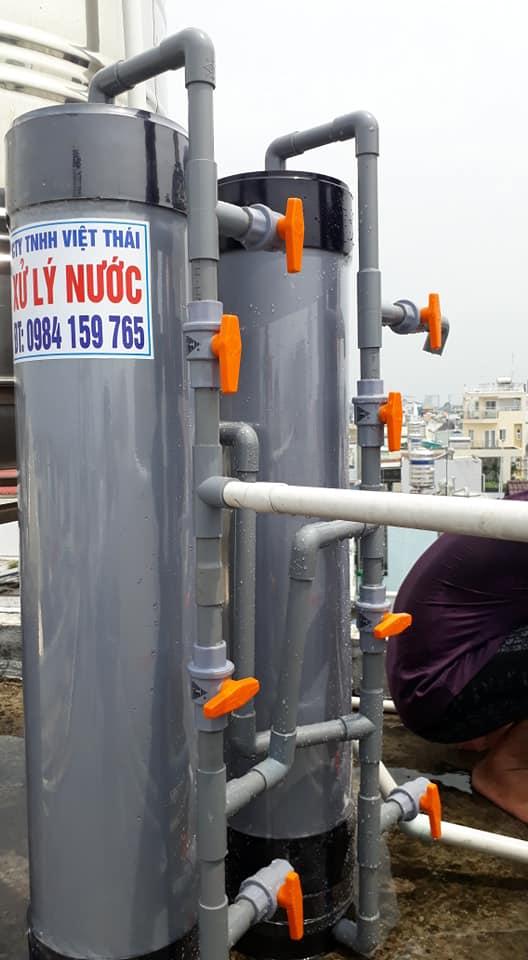 hệ thống lọc nước giếng khoan với cột lọc nước NHỰA cho sinh hoạt gia đìn