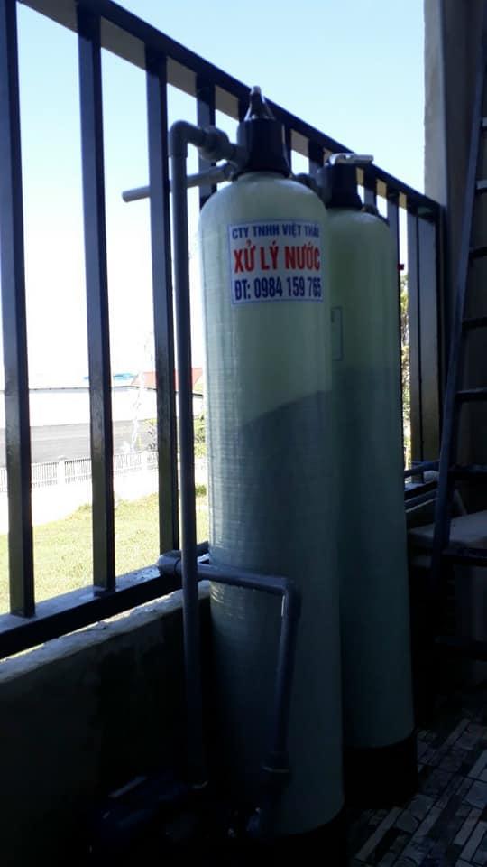 hệ thống lọc nước giếng khoan với cột lọc nước composite cho sinh hoạt gia đình